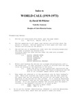 Index to World Call (1919-1973) by David I. McWhirter