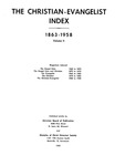 Index to the Christian-Evangelist, Volume 2 by Claude E. Spencer