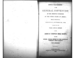 1849 Report of Proceedings of the General Convention of the Christian Churches of the United States of America