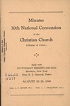 Minutes of the 30th National Convention of the Christian Church (Disciples of Christ)