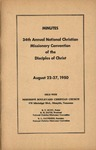 Minutes 34th Annual National Christian Missionary Convention of the Disciples of Christ
