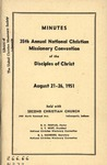 Minutes 35th Annual National Christian Missionary Convention of the Disciples of Christ