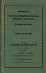 Minutes Thirty-Eighth National Christian Missionary Convention of the Disciples of Christ