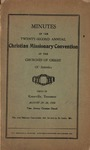 Minutes of the Twenty-Second Annual Christian Missionary Convention of the Churches of Christ of America
